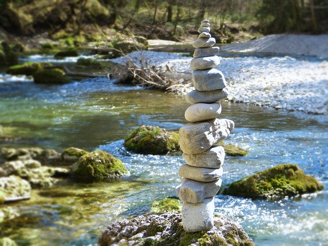 Stones Tower Cairn Stacked Stones