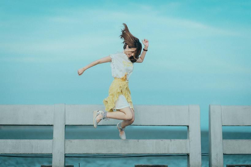femme heureuse et libérée
